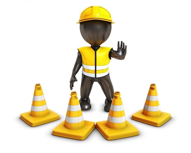 Construction zone de prudence