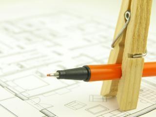 Construire une maison et des outils de l'architecte, l'amélioration