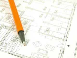 Construire une maison et des outils de l'architecte