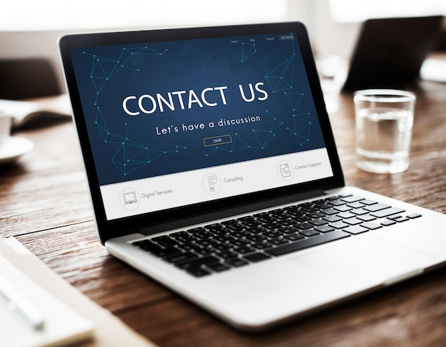 Contact s'inscrire commentaires support aide concept