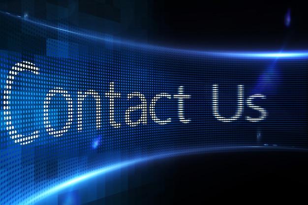 Contactez nous sur écran digital