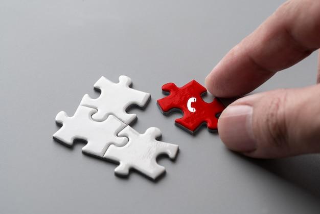 Contactez-nous icone sur puzzle coloré