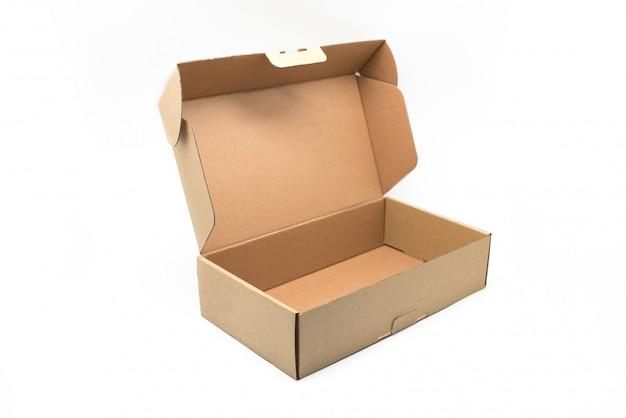 Conteneur de boîte d'artisanat sur un blanc