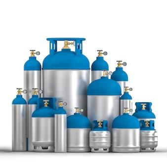 Conteneur de cylindre en métal différent