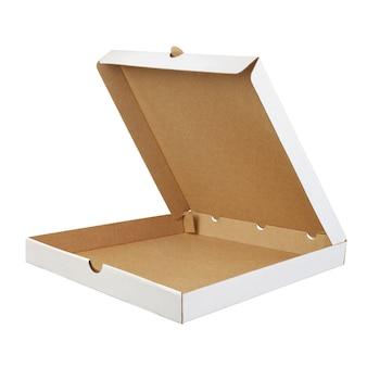 Conteneur à emporter ouvert vide pour pizza isolé
