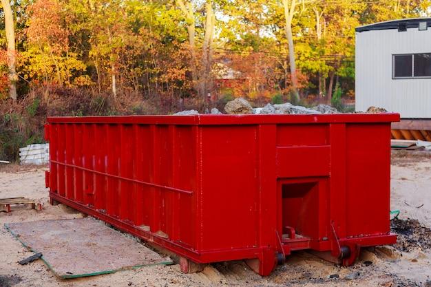 Conteneur de recyclage des déchets sur l'écologie et l'environnement