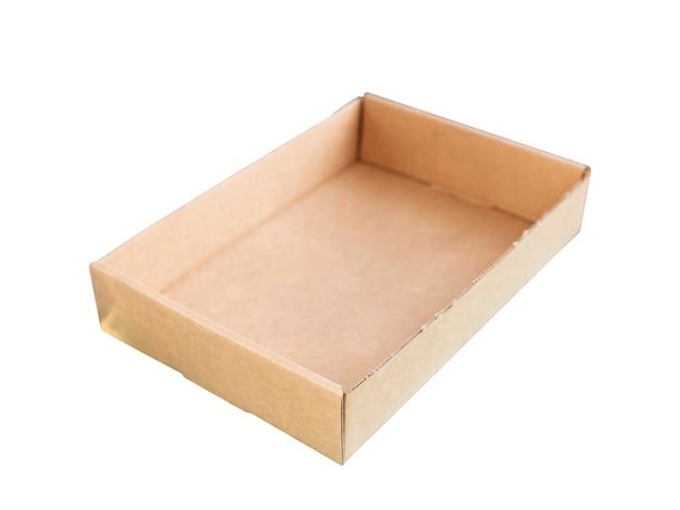 Conteneurs en carton isolés sur blanc