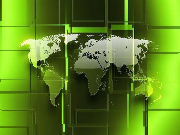 Contexte abstrait des affaires avec une carte en verre du monde