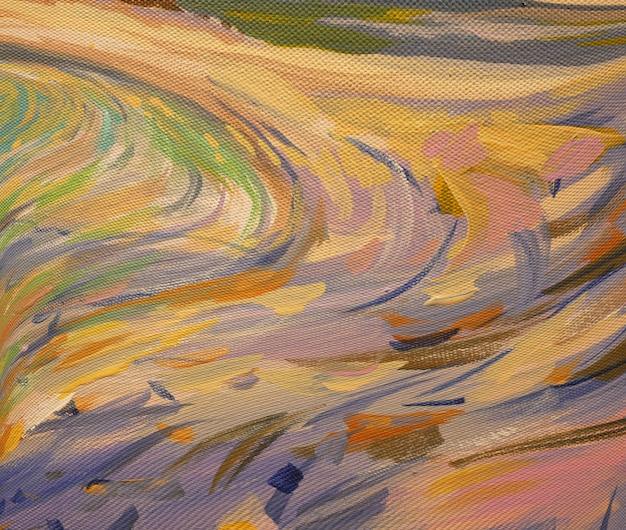 Contexte de l'art abstrait coups de pinceau de peinture à l'huile.