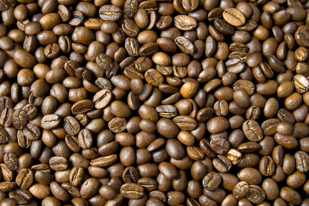 Contexte de grains de café