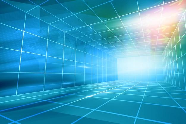 Contexte de haute technologie de studio de nouvelles inclus