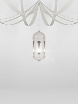 Contexte islamique avec lanterne