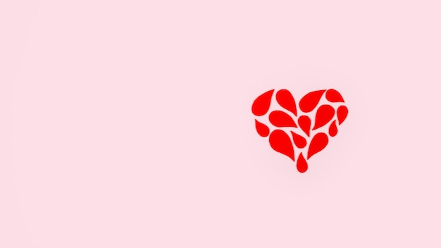 Contexte de la journée mondiale du don de sang avec espace de copie