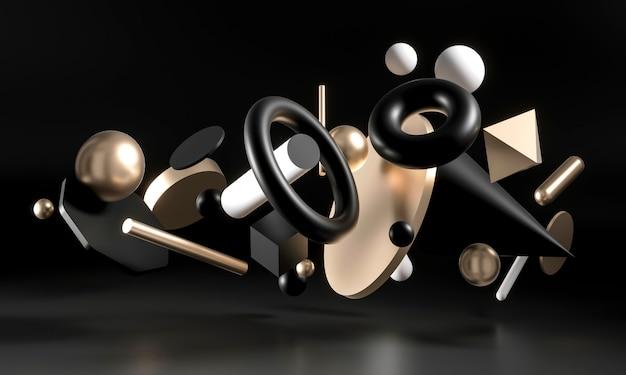 Contexte minimaliste de formes 3d géométriques solides