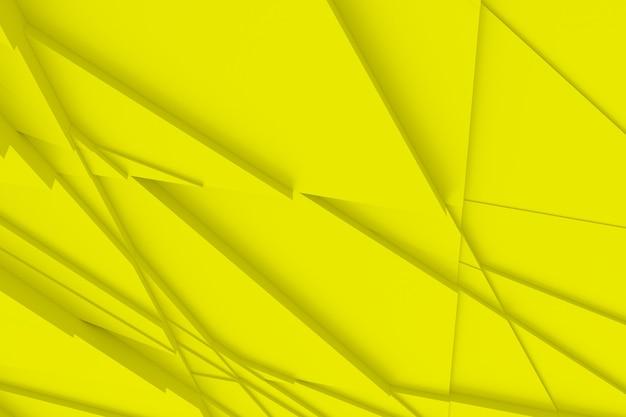 Contexte de nombreuses formes tridimensionnelles fissurées à différentes hauteurs les unes des autres et jette une illustration 3d d'ombre