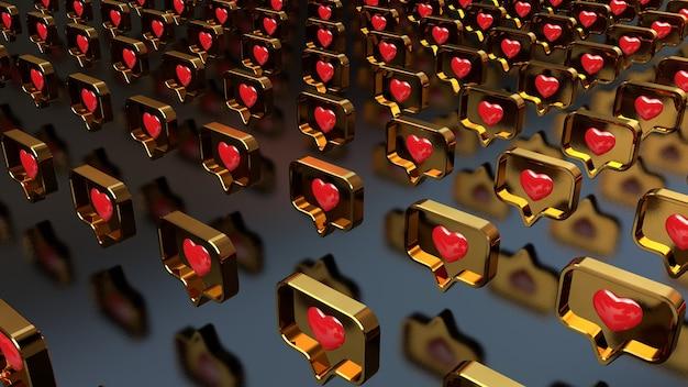 Contexte de notification avec coeur. photo de haute qualité
