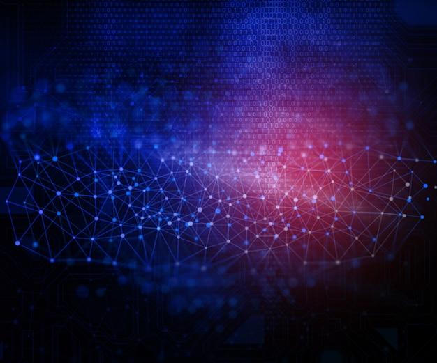 Contexte techno abstrait avec des points de connexion