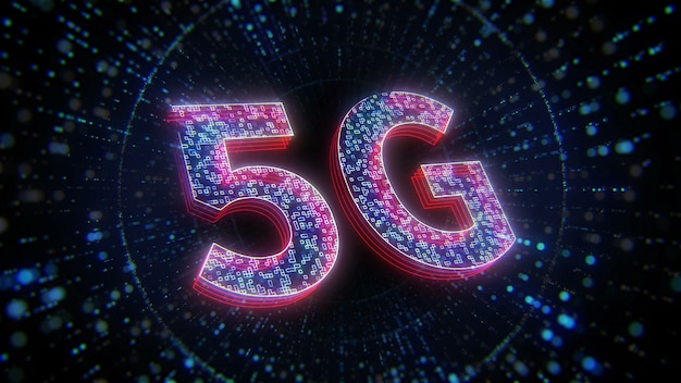 Contexte de la technologie digital future 5g