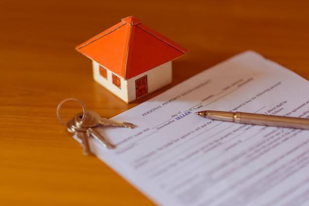 Contrat de vente d'une nouvelle maison (lorem ipsum - faux texte)