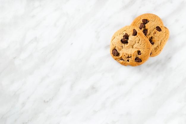 Cookies américains avec fond d'espace de copie