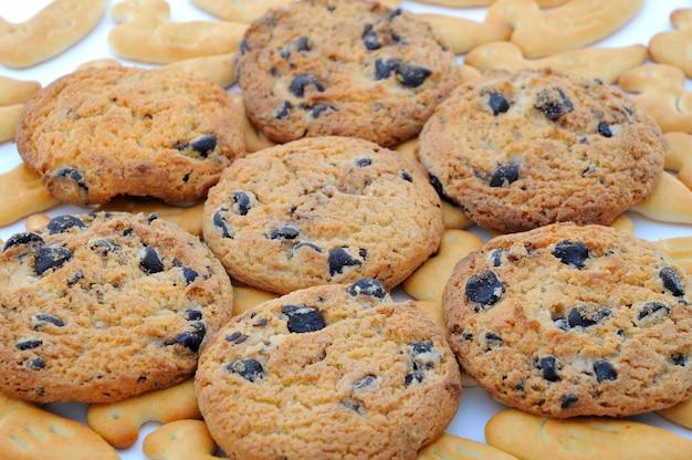 Cookies aux pépites de chocolat, gros plan