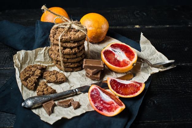 Cookies aux pépites de chocolat à l'orange.