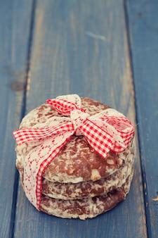 Cookies sur bois bleu