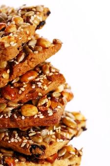 Cookies avec différents ingrédients