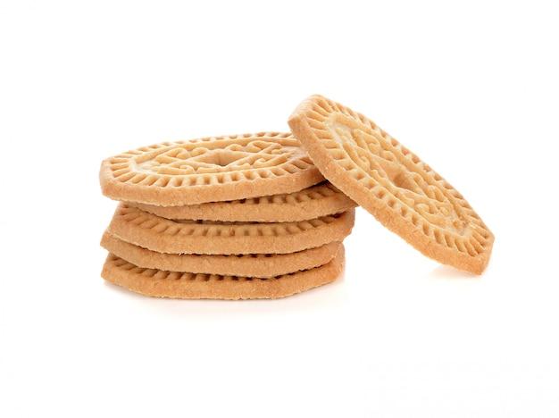 Cookies isolés sur fond blanc