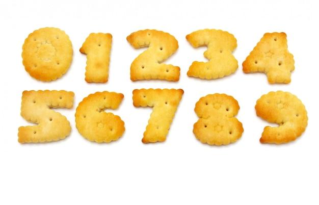Cookies jaunes sous forme de figures