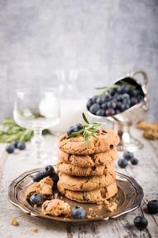 Cookies pépites de chocolat et myrtilles