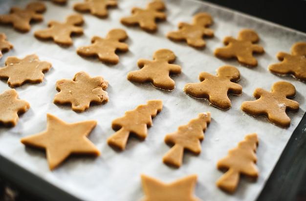 Cookies sur un plat allant au four