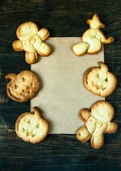 Cookies pour halloween et thanksgiving. nourriture drôle pour les enfants, une collation pour une fête.