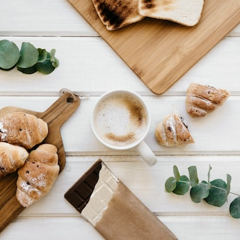 Cool composition du petit-déjeuner