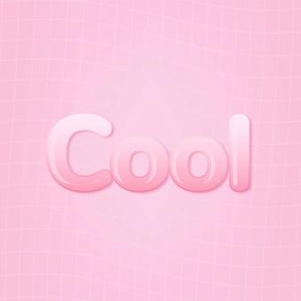 Cool Dans Le Mot Dans Le Style De Texte Rose Bubble-gum Photo gratuit