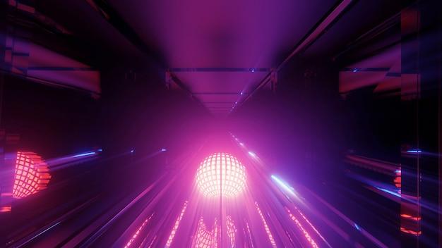 Cool lumières techno futuristes de science-fiction de forme ronde