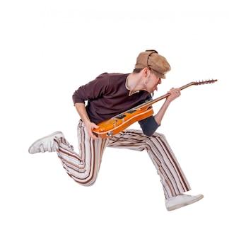 Cool musicien sur blanc