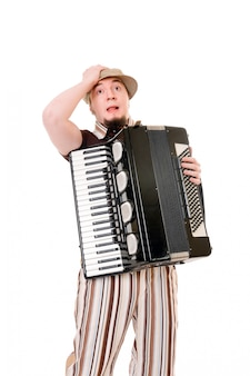 Cool musicien avec concertine