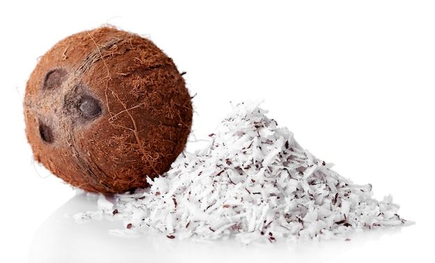 Copeaux de noix de coco au blanc de noix de coco