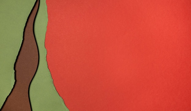 Copiez les couches de papier de l'espace