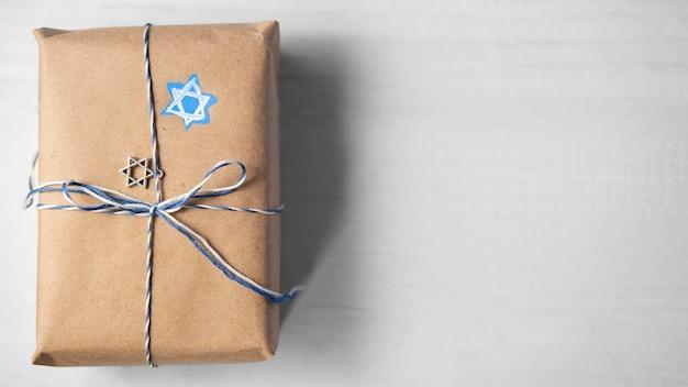 Copiez l'espace cadeau concept juif traditionnel de hanoucca