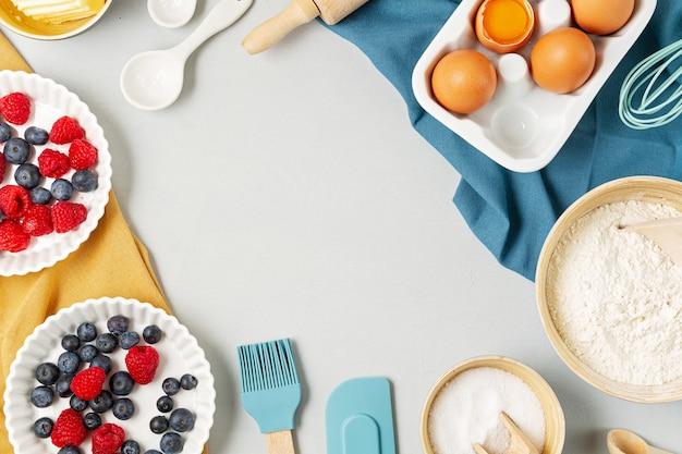 Copiez l'espace avec les ingrédients de cuisson