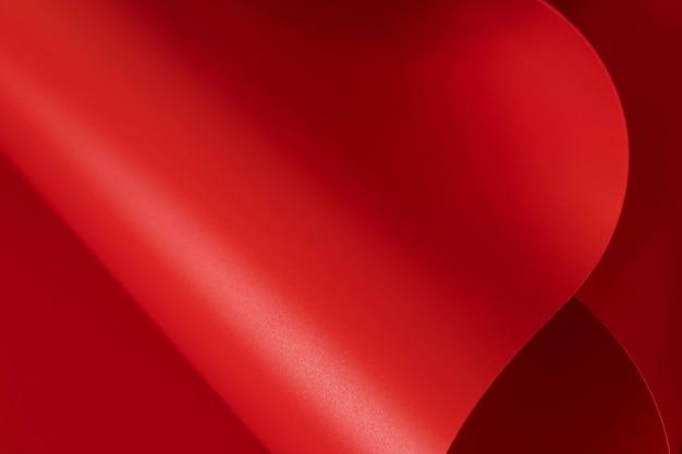 Copiez l'espace de papiers rouges élégants