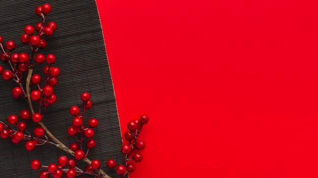 Copiez l'espace traditionnel du nouvel an chinois 2021 fleurs