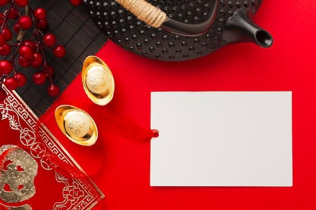 Copiez l'espace traditionnel nouvel an chinois 2021