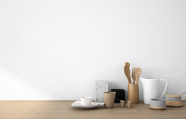 Copiez l'espace d'ustensiles de cuisine