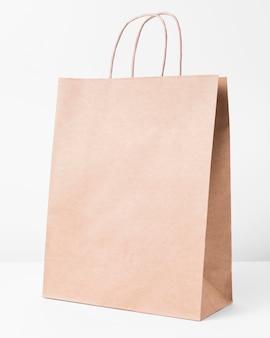 Copiez le sac de papier de l'espace pour faire du shopping