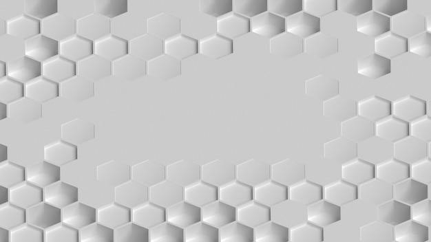 Copiez la surface de l'espace entourée de formes 3d vue de dessus