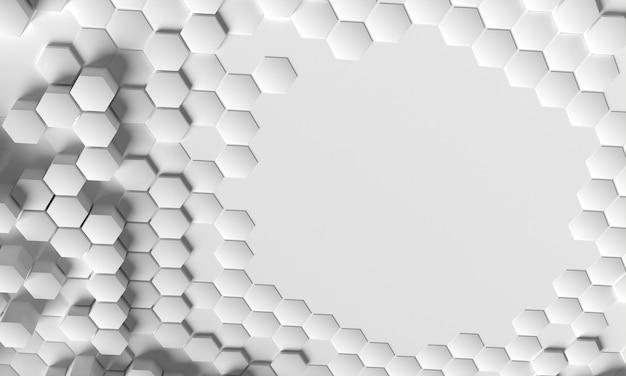 Copiez la surface de l'espace entourée de formes 3d