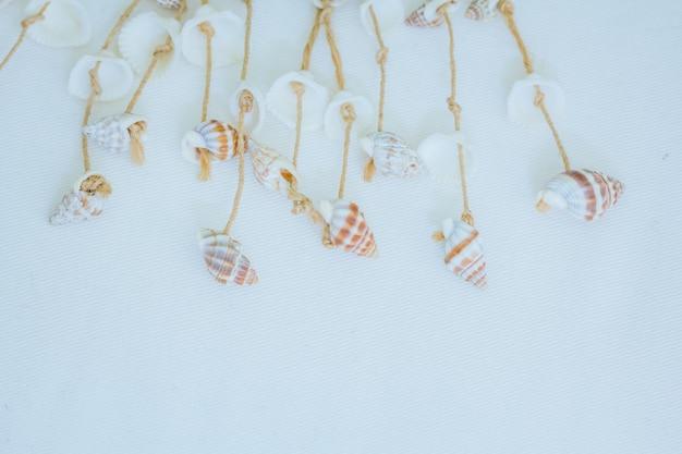Coquilles attachées avec une corde